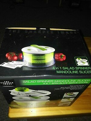 The Sharper Image 4 In 1 Salad Spinner Mandoline Slicer 760