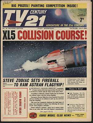Tv Century 21 #24 Jul 3Rd 1965 Stingray/fireball Xl5/the Daleks