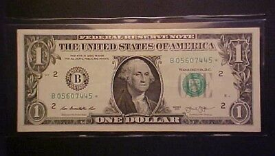 2013 $1 Federal Reserve Note - Star/low Serial Number  - B 05607445 * !-Aa309Txx
