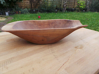 "Antique 1900"" primitive  dough bowl country style  size 58x26x13 cm"