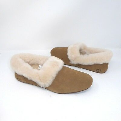 553d1679995 UGG AUSTRALIA KENDYL Chestnut Suede Furry Sheepskin Slippers US 5 ...