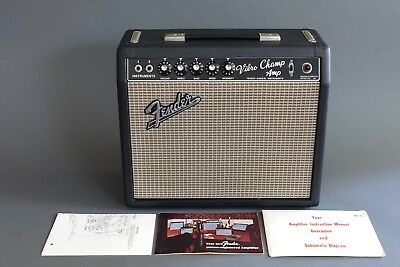 FENDER VIBRO CHAMP Amplifier 1966 Vintage Guitar Amp & Schematic Collector  Grade
