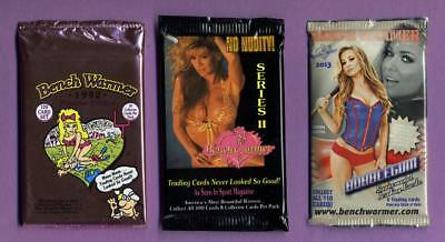Three (3) Different Benchwarmer Trading Card Packs - 1992 - 2013 - 24 Cards
