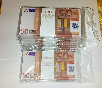 50 euro SOUVENIR MONEY, BANKNOTE 11 Pack (Size:135*70mm, 95-100pcs).NEW.