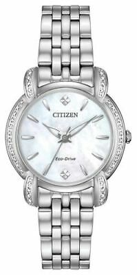 Citizen Eco-Drive EM0690-50D Drive Jolie Diamond MOP Dial DIAMOND Watch