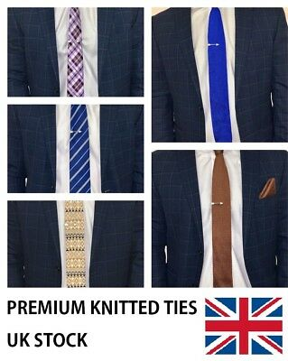 High Quality Men's Tie Knit Knitted Tie Slim 6cm Wide Woven UK Fashion