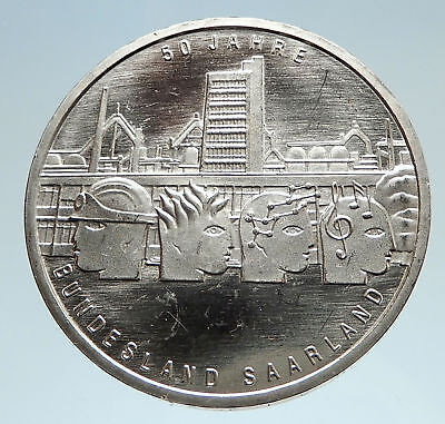 2007 GERMANY Saarland 50Yrs Rule Genuine Proof Silver German 10 Euro Coin i75137