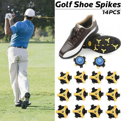 14x Golf Shoe Spikes Replacement Fast Tri-Lok Champ Anti-skid Cleat For Foot joy
