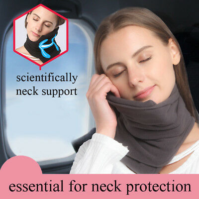 TRAVEL PILLOW Scientifically Proven Super Soft Neck Support (Gray)