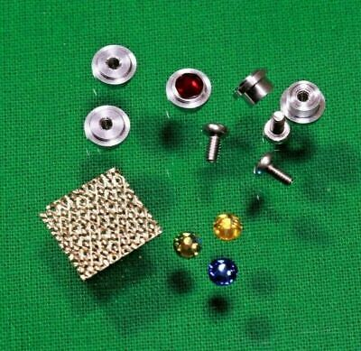 Star Trek TOS Communicator Parts Kit, 5 Metal T-Jets, 3 Crystals, Coronet Fabric