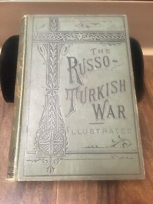 Antique Rare 1877 Russo Turkish War Balkans Serbia Bulgaria Book Illustrated