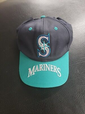 VINTAGE DEADSTOCK SEATTLE Mariners YOUTH Outdoor Cap Company ... bfde0321a1b7