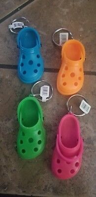 1 CROC Shoe KEY CHAIN clog sandal PARTY FAVORS Loot Bags Girls Youth 3""