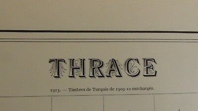Thrace classics stamp collection on old pages w/ 133 or so stamps