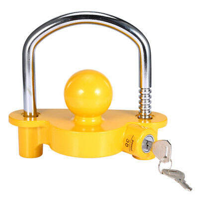 Universal Caravan Trailer Hitch Tow Steel 50mm Ball Lock COUPLING Safe Security
