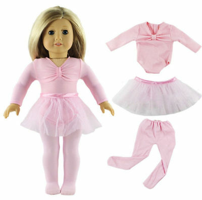 Handmade Pink Doll Clothes Ballet Dress Fit for 18 Inch American Girl Dolls LK11