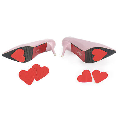 6 Pairs Lady Self-Adhesive Red Heart Shoe Grip Pads Non-Slip Sole Protectors