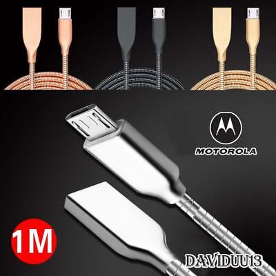 Metal Micro USB Data Sync Charging Charger Cable For Motorola Moto Phones