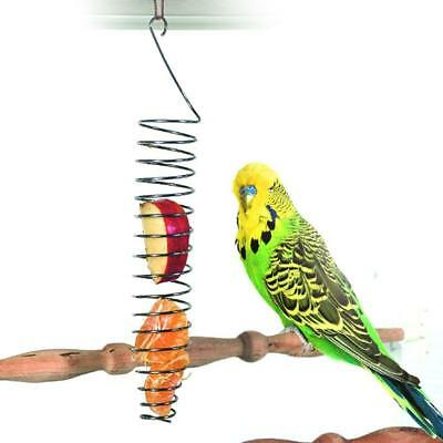Stainless Steel Parrot Pet Birds Food Basket Foraging Apparatus Parrot Toys