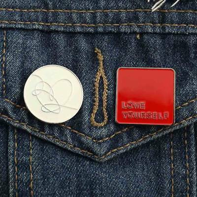 KPOP BTS LOVE YOURSELF Metal Badge Fans Brooch Pin for Hat Clothes Backpack