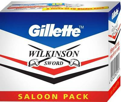 Pack of 100 Sword Razor Blades Double Edge (DE) Shaving Blade Sharp Shave