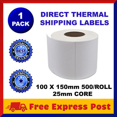 Direct Thermal Shipping 100x150mm 4x6 Label 4 Fastway Startrack eParcel x 500