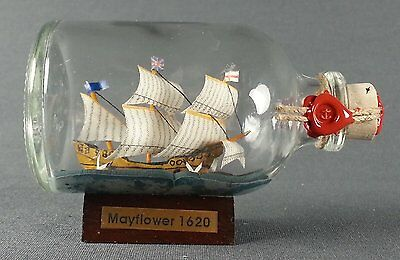 Mayflower Mini Buddelschiff 50 ml 7,2 x 4,5 cm original Flaschenschiff Handmade