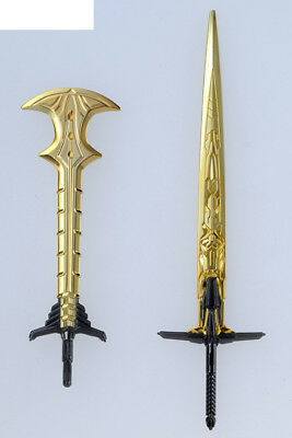 Japan Rare Transformers Legendary Weapon Gold Temenos sword & Gold Battle AX