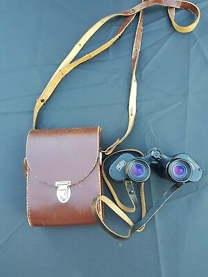 CASED CARL ZEISS JENA JENOPTEM 8x30w BINOCULARS DDR TESTED MULTI-COATED
