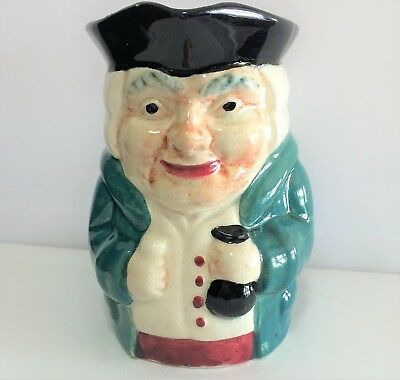 Mid Century Staffordshire Hand Painted Toby Mug Shorter and Son England 119m