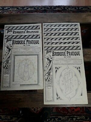 8Nos ANCIENS JOURNAUX LA BRODERIE PRATIQUE DE LYON 1931 OLD EMBROIDERY PATTERNS