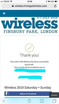 Wireless Festival 2019 Saturday & Sunday Ticket . SOLD OUT IN SECONDS