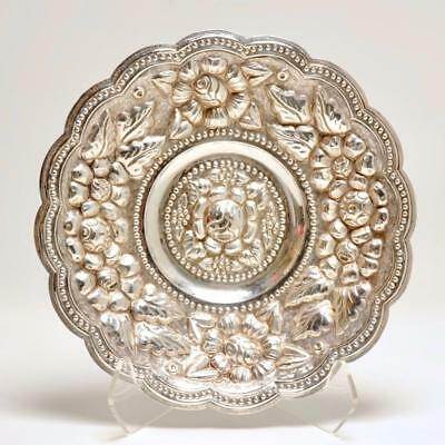 A. Tobias Mexican Silver Sterling Large Repousse Dish