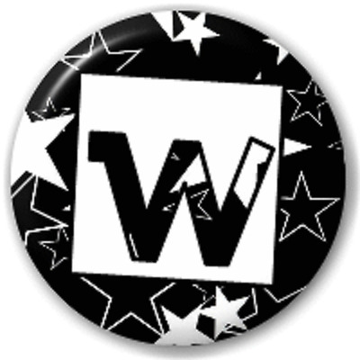 Stars Letter W – 25 Mm Pin Button Badge