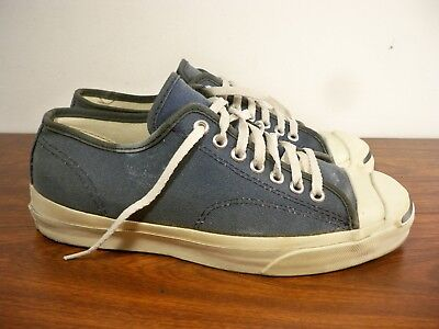 7dce775a534b7c RARE Vintage CONVERSE Low Top Canvas JACK PURCELL Blue Shoes Size 8 Made in  USA