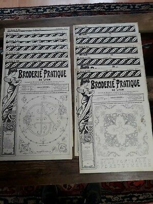 12Nos ANCIENS JOURNAUX LA BRODERIE PRATIQUE DE LYON 1926 OLD EMBROIDERY PATTERNS