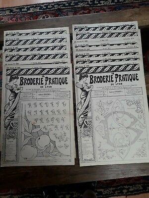 14Nos ANCIENS JOURNAUX LA BRODERIE PRATIQUE DE LYON 1925 OLD EMBROIDERY PATTERNS