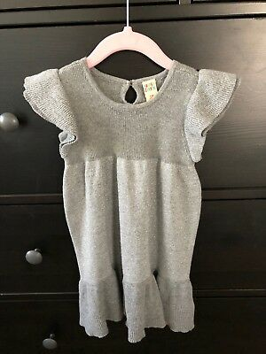 Harper Canyon Nordstrom's Gray Ruffle Sleeveless Dress Size 24 Months NWOT