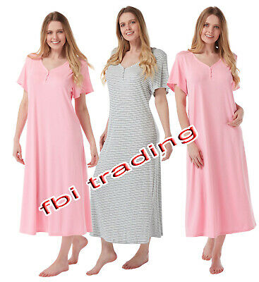 Ladies Women Nightdress Nightie Nightshirt Nightwear Long Full Soft Viscose