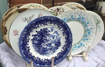 Vintage Mismatch Dinner Plates X 6 Parties Weddings Christmas Catering Styling