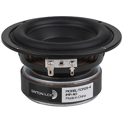 """Dayton Audio TCP115-4 4"""" Treated Paper Cone Midbass Woofer 4 Ohm"""