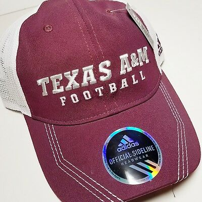 new style 85011 04669 Texas A m Aggies Adidas Sideline Climalite Cap Hat New