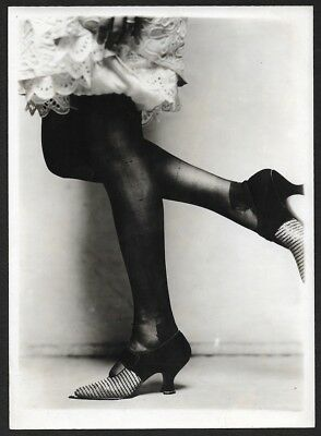 ad717798229 1920s Jazz-Age Charles Sheldon Fox Shoes Advert. Photograph Stylish Heels    Hose