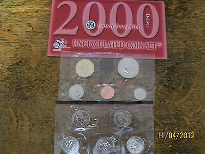 2000 Us Mint Set P & D,  20-Piece, W/box & Coa, As Received From Mint