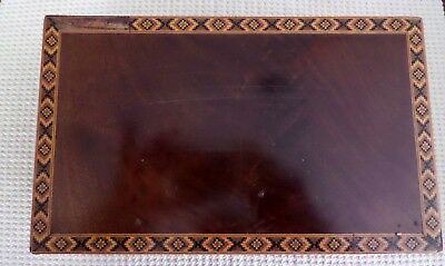 Large Inlaid Antique Tea Caddy with Double Compartments Marquetry