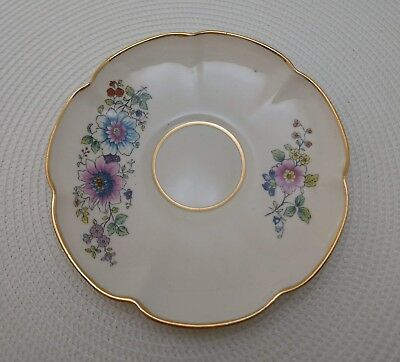 Vintage Leneig Bone China plate  24K Gold Rim Floral Small Plate