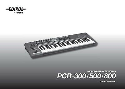 ROLAND PCR-300 PCR-500 PCR-800 Keyboard Owners Instruction Manual