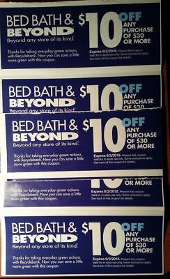 LOT OF 7 coupons BED BATH BEYOND immediate ship $10 OFF $30 better than 20% code