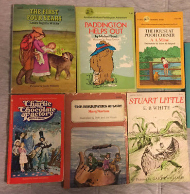 Vintage Pooh Charlie Chocolate Factory Borrowers Stuart Little First Four Years