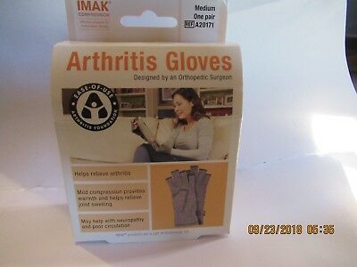 IMAK Compression Arthritis Gloves   Medium  New